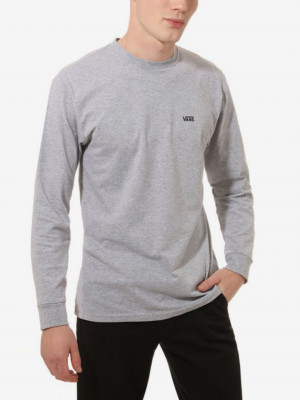 Světle šedé pánské tričko VANS Left Chest
