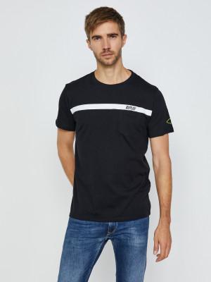 Černé pánské tričko s potiskem Replay