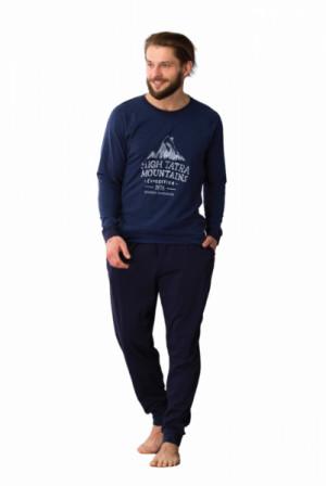 Key MNS 781 B21 Pánské pyžamo M tmavě modrá