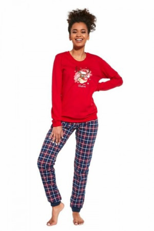 Cornette Reindeer 671/261 Dámské pyžamo S červená