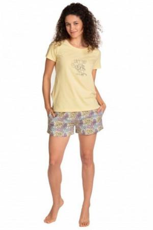 Lama L 1397 PY Dámské pyžamo S žlutá