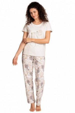 Lama L 1395 PY Dámské pyžamo M béžová