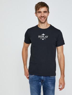 Černé pánské tričko s potiskem Replay Not ordinary people