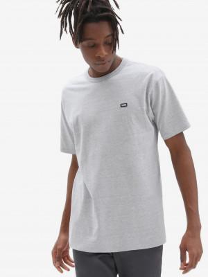Světle šedé pánské tričko VANS Off The Wall