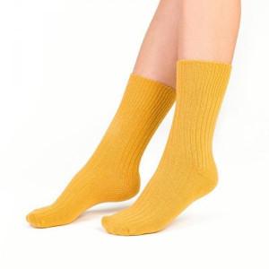 Steven vlněné 093 žluté Dámské ponožky 35/37 žlutá