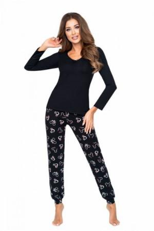 Donna Mika černé Dámské pyžamo XXL černá