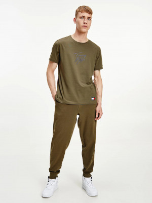 Khaki pánské tričko Tommy Hilfiger