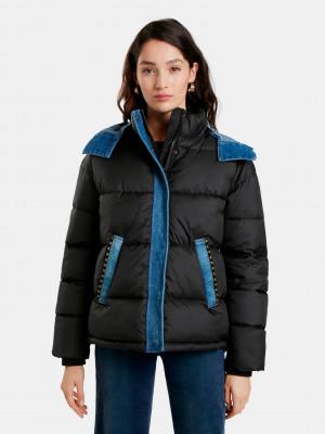 Austen Zimní bunda Desigual Černá