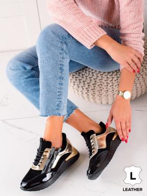 Klasické dámské  tenisky černé bez podpatku
