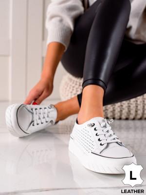 Trendy  tenisky bílé dámské bez podpatku