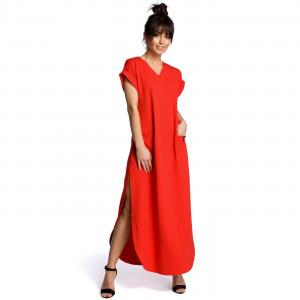 Dámské šaty B065 - BEwear červená 2XL/3XL