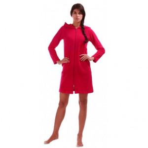 BARI 3/4 šaty s dlouhým rukávem 3864 S krátký župan se zipem červená 3551