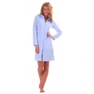 BARI 3/4 šaty s dlouhým rukávem 3864 S krátký župan se zipem světle modrá 5251