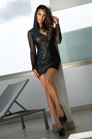 Dámské sexy šaty V-9319 - Axami černá 42/XL