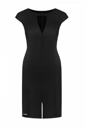 Společenské šaty  model 108533 Ellina - Jersa černá