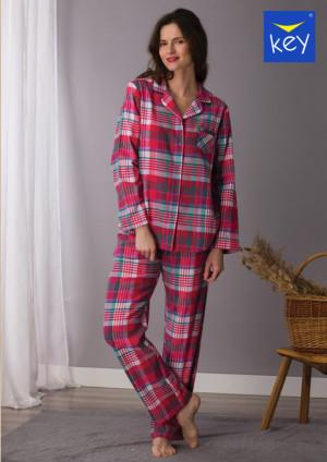 Dámské pyžamo LNS 435 B21 2XL-4XL Červená 3XL