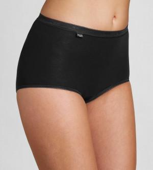 Dámské kalhotky Basic+ Maxi 2P černé - Sloggi BLACK