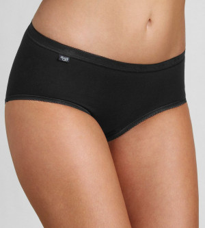 Dámské kalhotky Basic+ Midi 2P černé - Sloggi BLACK