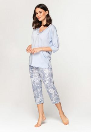 Dámské pyžamo - 576 2XL Modrá 2XL