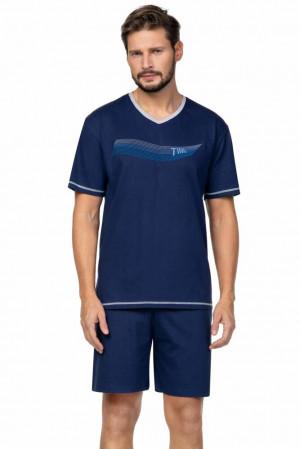 Pánské pyžamo Toby tmavě modré Modrá