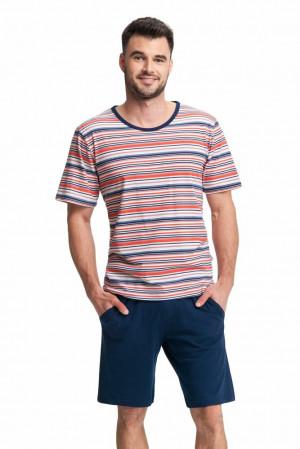 Pánské pyžamo James proužky vícebarevné