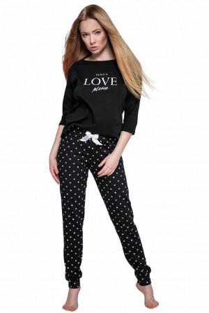 Dámské pyžamo Love Please černé černá