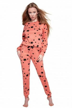 Dámské pyžamo My Way oranžové oranžová S/M