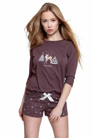 Krátké dámské pyžamo Mystique vínové vínový