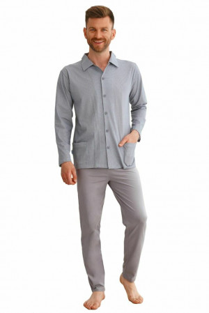Pánské pyžamo Richard šedé šedá