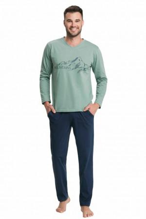 Pánské pyžamo Kevin zelené Zelená