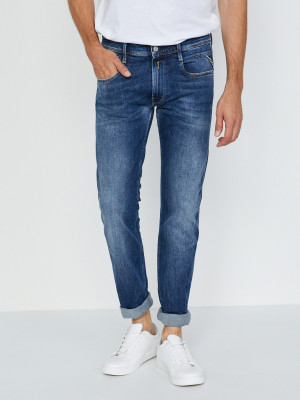 573 Bio Anbass Jeans Jeans Replay Modrá