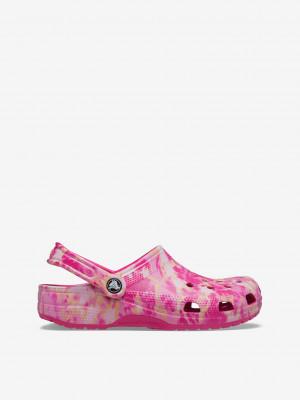 Classic Bleach Dye Clog Pantofle Crocs Růžová