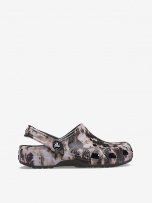 Classic Bleach Dye Clog Pantofle Crocs Černá