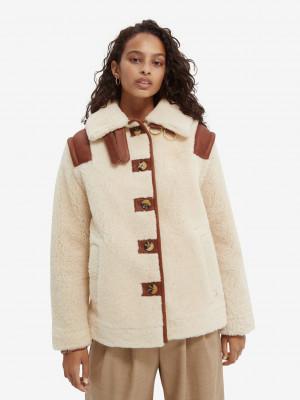Zimní bunda Scotch & Soda Bílá
