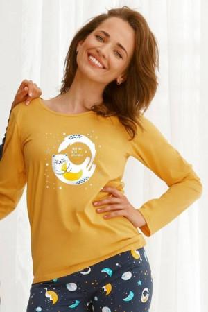 Dámské pyžamo 2579 Sarah yellow