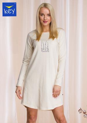 Dámská noční košile Key LND 941 B21 S-XL Béžová