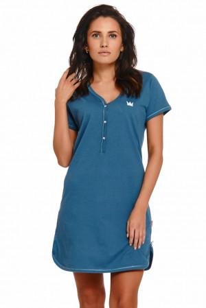 Bavlněná noční košile Lor pacific modrá