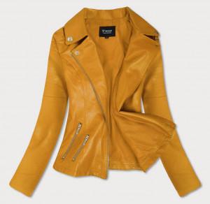Žlutá bunda ramoneska se zipy (R18) żółty L (40)