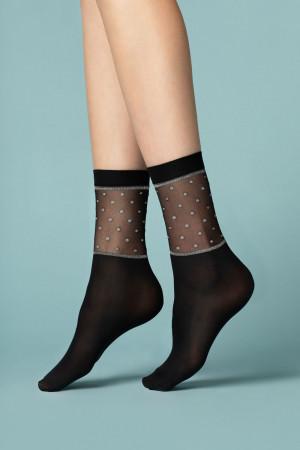 Dámské ponožky Fiore Prima neve 40 den black UNI