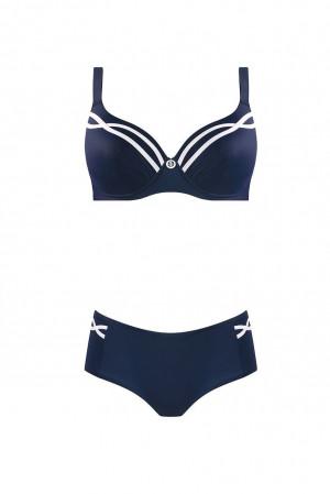 Dvoudílné plavky S940V2 tmavěmodrá - Self tmavě modrá