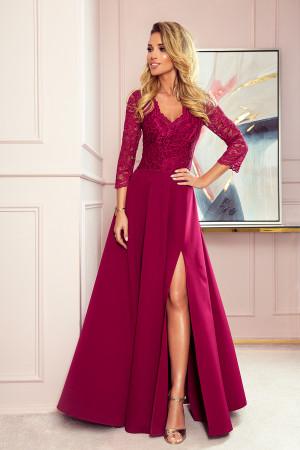 Dámské šaty  309-1 Amber - NUMOCO kaštanové