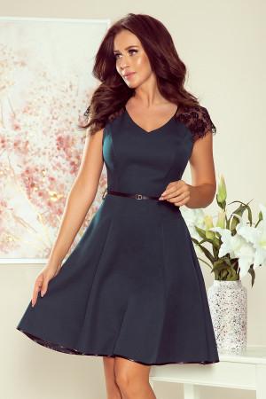 Dámské šaty  254-1  - NUMOCO máta & černá