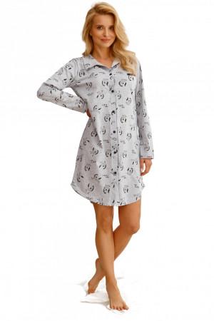 Noční košile  2583 Celine grey - TARO šedá