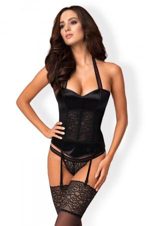 Dámský korzet Ailay corset - OBSESSIVE černá L/XL