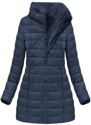 Tmavě modrá obostranná dámská zimní bunda (B7107) tmavě modrá S (36)
