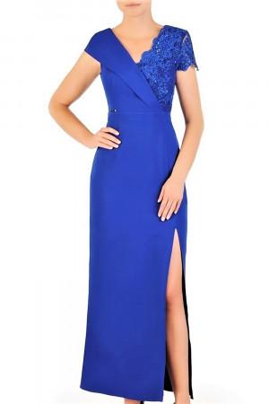 Dámské večerní šaty Santi model 156937 - Jersa královská modř