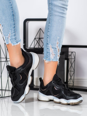 Originální dámské  tenisky černé bez podpatku