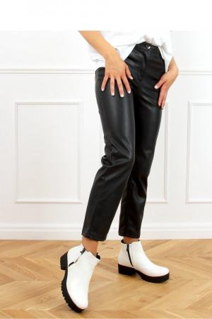 Dámské kotníkové boty 9B1053 - Inello bílá/černá