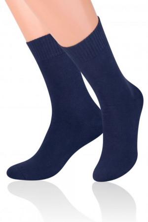 Pánské ponožky  015 Frotte dark blue - Steven tmavě modrá 44/46