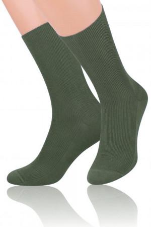 Pánské ponožky  018 olive - Steven 35/38